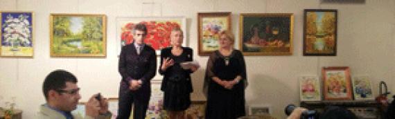 Exposition des peintres de Russie et de France Arshak Oganyan et Karine Hovhannissyan