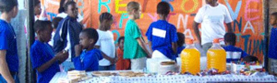 Aide aux orphelins de Johannesburg en Afrique en 2002